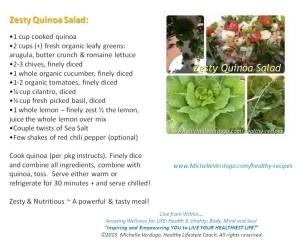 Zesty Quinoa Salad Recipe Card