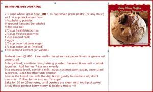 Berry merry muffins recipe card