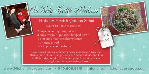 Holiday Health Quinoa Salad
