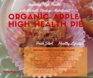organic apple high health pie recipe