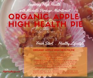 organic apple high health pie recipe